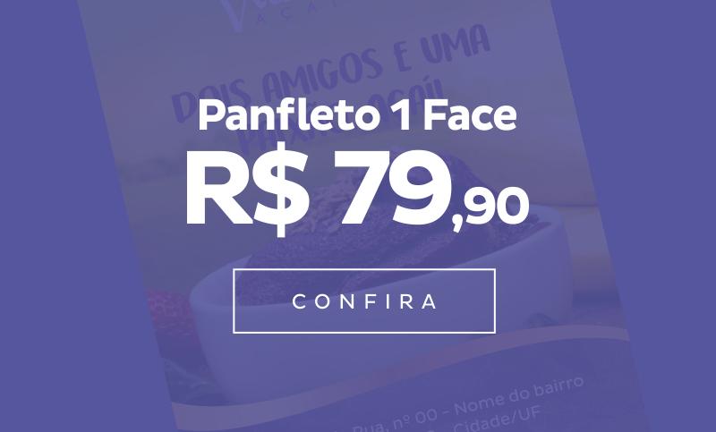 Panfleto (1 Face)