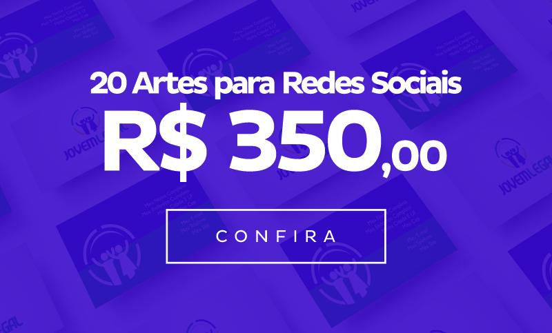 20 Artes para Redes Sociais